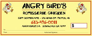 angry birds gift certificates